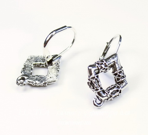 "Швензы с французским замком Quest Beads ""Готика"" 25х14 мм (цвет-античное серебро), пара ()"