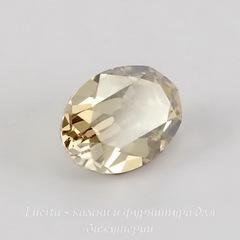 4120 Ювелирные стразы Сваровски Crystal Golden Shadow (14х10 мм)