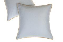 Элитная наволочка декоративная Павлин голубая от Luxberry