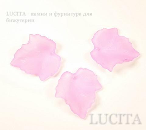 Акриловый листик сиреневый 25х23 мм ()