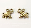 """Подвеска Quest Beads """"Слон"""" (цвет-античное золото) 15х15 мм"""