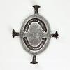 """Сеттинг - основа """"Черепашка"""" для камеи или кабошона 25х18 мм (оксид серебра) ()"""