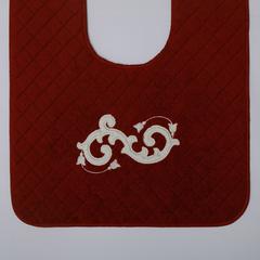 Элитный коврик для унитаза Ricciolo бордовый с белой аппликацией от Old Florence