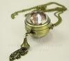Часы на цепочке (цвет - античная бронза) 48х28х26 мм ()