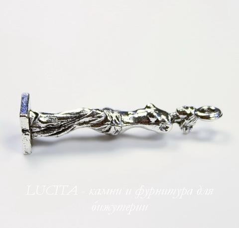 """Подвеска Quest Beads """"Венера Милосская"""" 3D (цвет-античное серебро) 30х7 мм"""