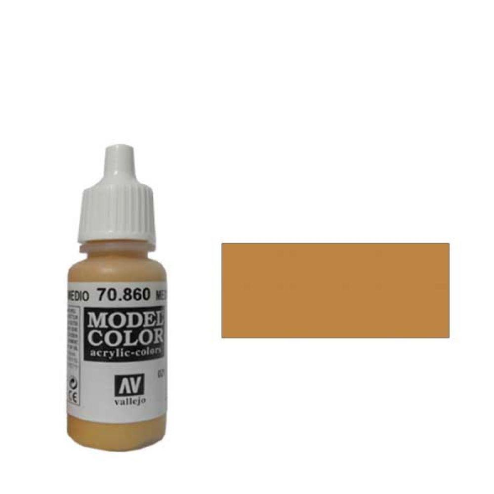 021. Краска Model Color Телесный Средний 860 (Medium Fleshtone) укрывистый, 17мл