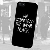 Чехол для iPhone 7+/7/6s+/6s/6+/6/5/5s/5с/4/4s  ON WEDNESDAY WE WEAR BLACK