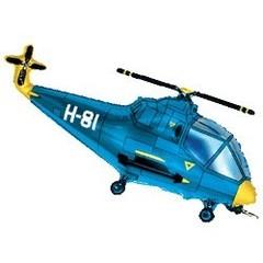 Вертолет (синий) 14