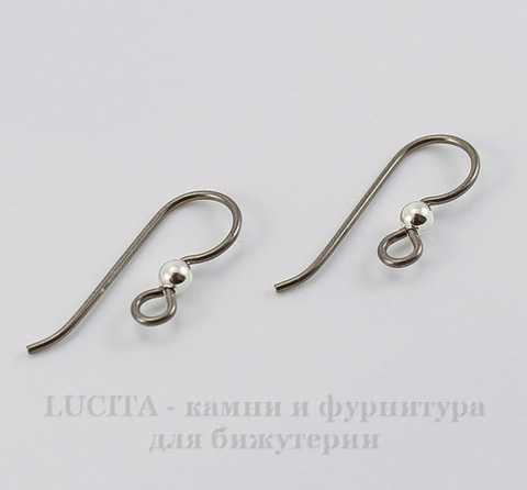 Швензы-крючки TierraCast с шариком 23х8 мм (цвет-античное серебро), пара