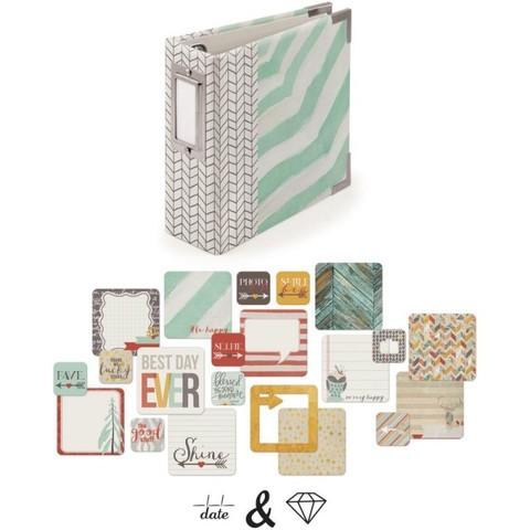 Кит Insta-альбом на кольцах 10х10 см + карточки + штампы