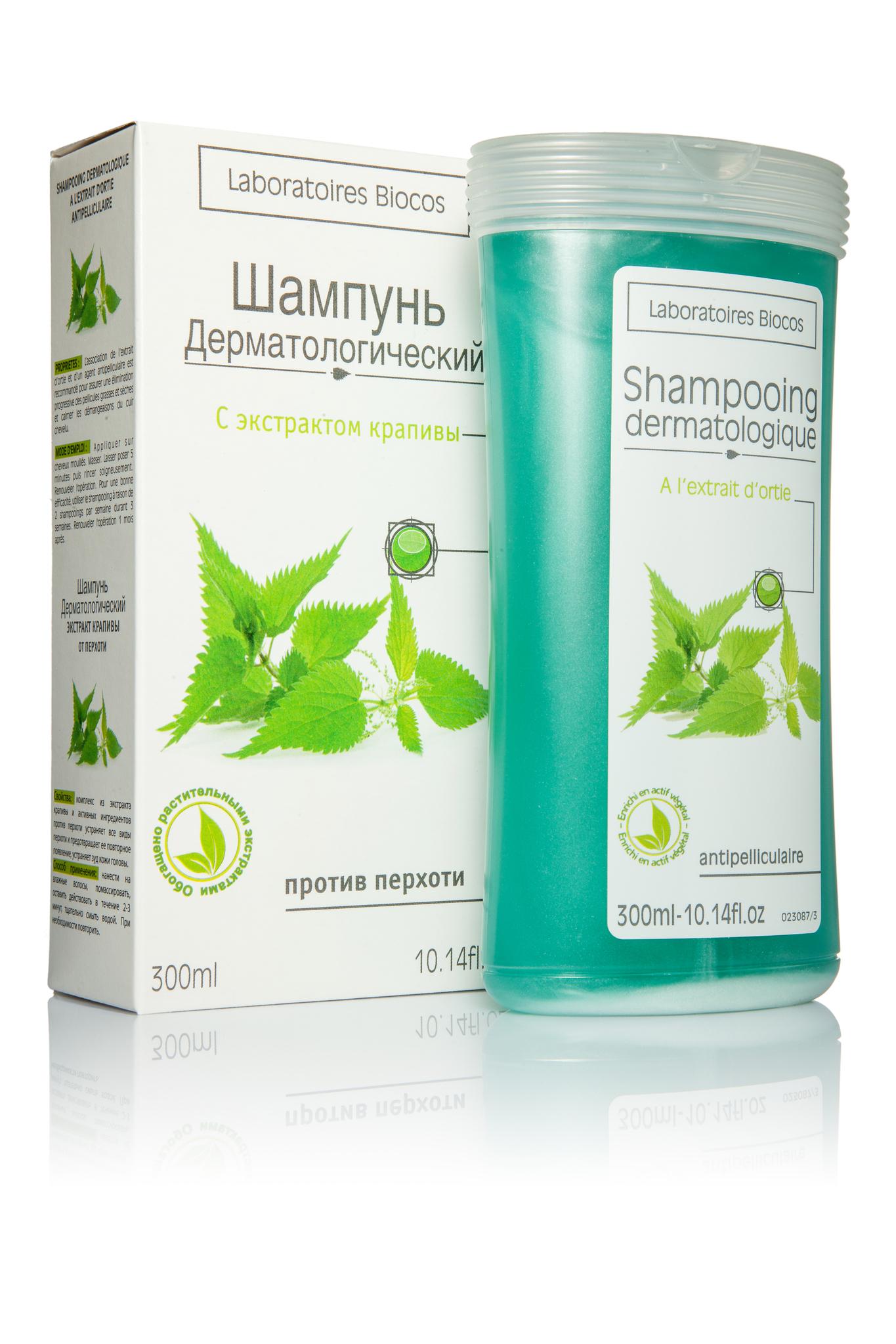 Дерматология шампунь с крапивой 300 мл.