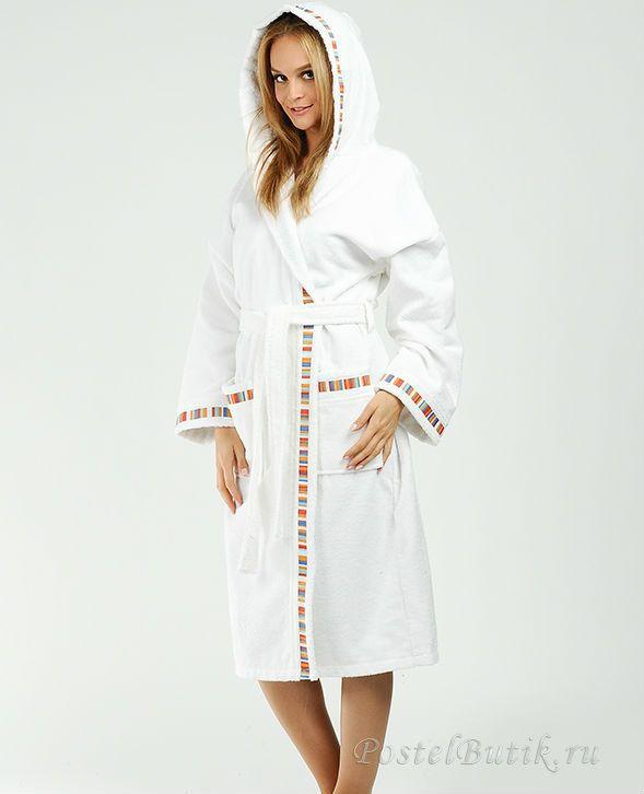 Элитный халат махровый Yupi белый от Caleffi