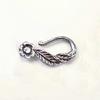 "Замок - крючок Quest Beads ""Цветочек"" (цвет-античное серебро) 20х10 мм ()"