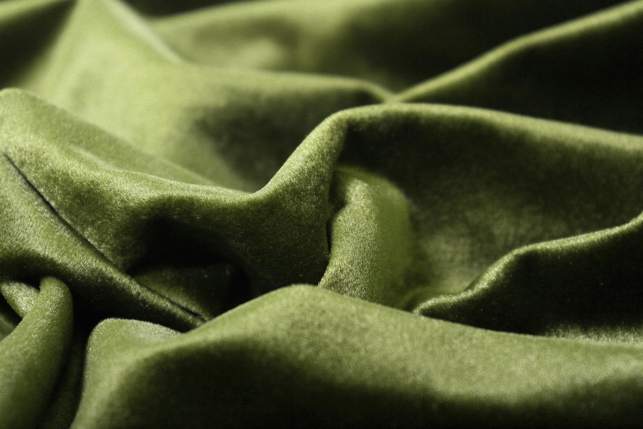 Velour (Dark Olive). Шторы из велюра из серии Luxe.