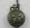 """Часы на цепочке """"Бабочка"""" (цвет - античная бронза) 40х27Х12 мм"""