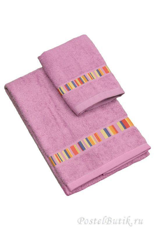 Наборы полотенец Набор полотенец 2 шт Caleffi Yupi розовый elitnoe-mahrovoe-polotentse-yupi-ciklamen-ot-caleffi-italiya.jpg
