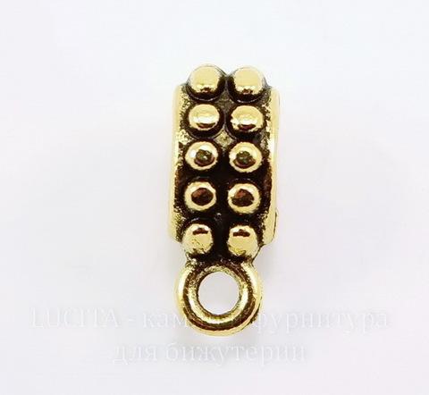 "Бейл ""Бусинки"" (цвет- античное золото) 13х8 мм"