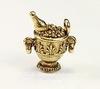 """Подвеска Quest Beads """"Шампанское в чаше"""" 3D (цвет-античное золото) 17х15 мм"""
