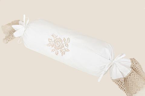 Наволочка декоративная для валика 28х56 Luxberry Rose белая
