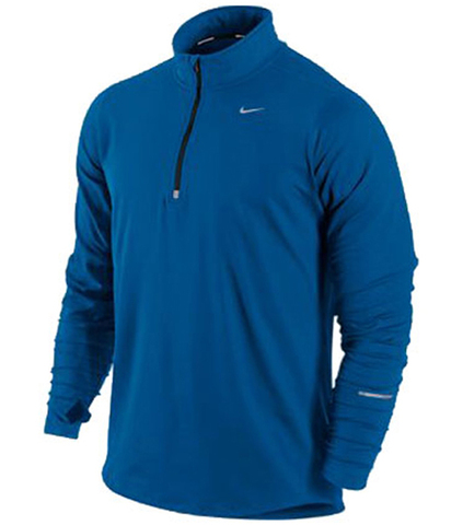 Футболка Nike Racer LS HZ Mid /Рубашка беговая синяя