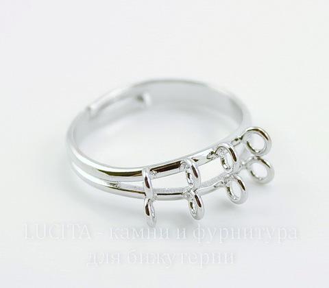 Основа для кольца 8 петелек (цвет - античное серебро)