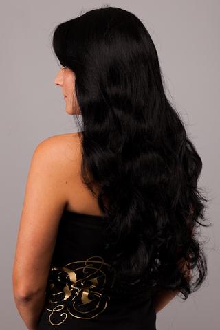 Волосы на кератиновых капсулах -100 штук. Оттенок #1-Натуральный черный-волосы имеют прямую структуру