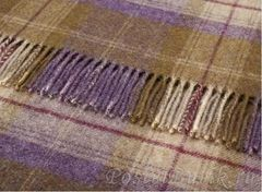 Плед шерстяной 140x185 Bronte Variegated Herringbone Grape Shetland
