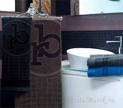 Набор полотенец 2 шт RoccoBarocco Gazzella синий