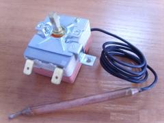 Термостат регулируемый  77С,капилярный, для водонанревателей Аристон, Термекс,ISEA 65150779