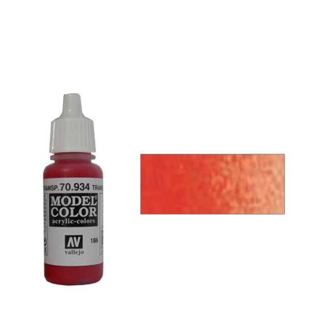 186. Краска Model Color Красный 934 (Transparent Red) прозрачный, 17мл