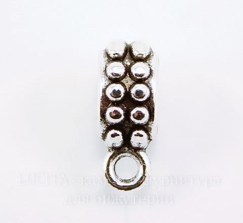 "Бейл ""Бусинки"" (цвет - античное серебро) 13х8 мм"