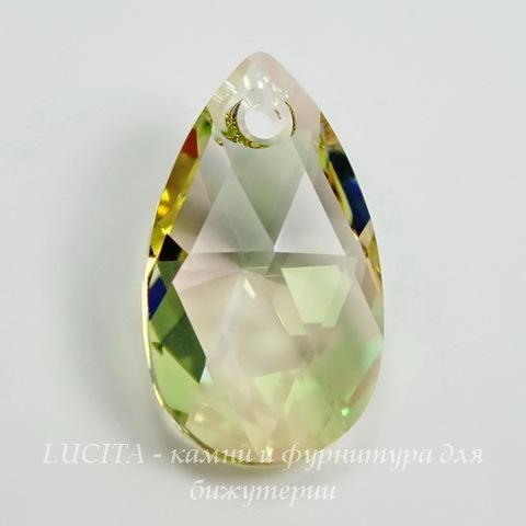 6106 Подвеска Сваровски Капля Crystal Luminous Green (28  мм)