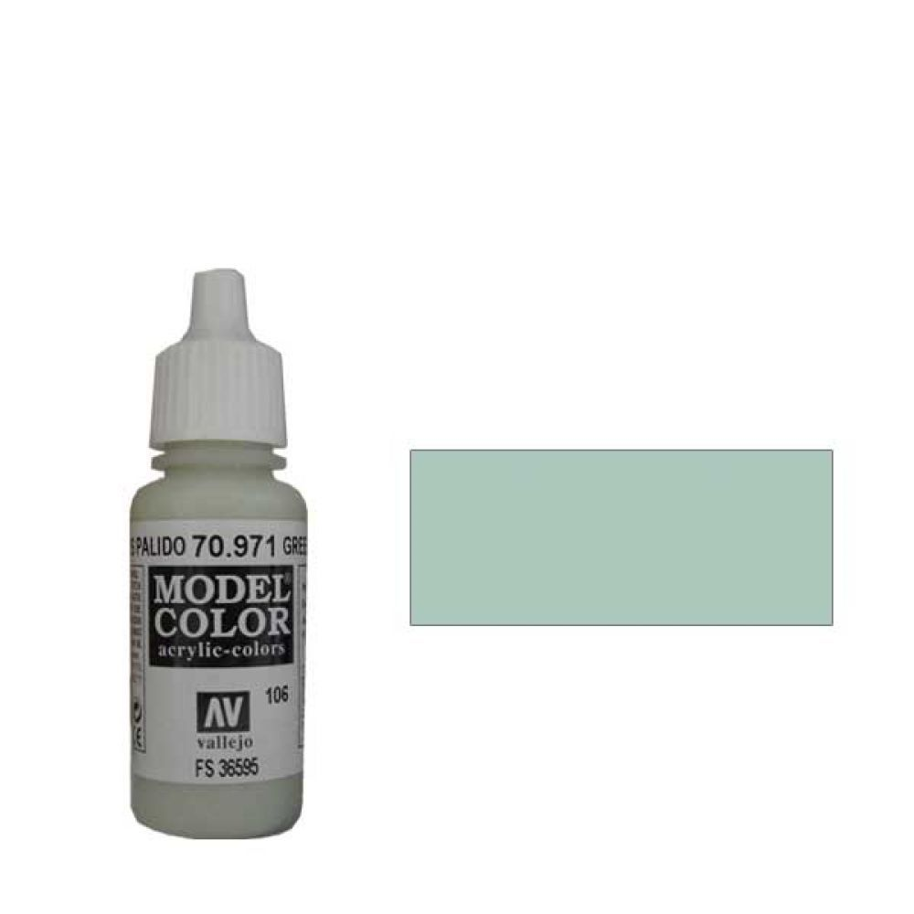 106. Краска Model Color Серо-Зеленый Пастельный 971 (Green Grey) укрывистый, 17мл