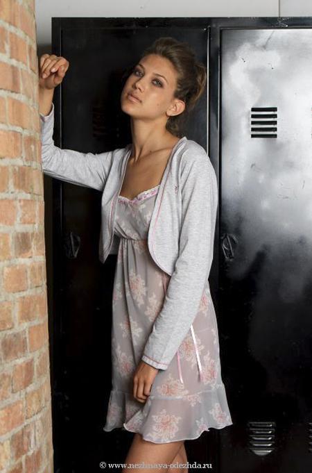 Стильная ночная сорочка c болеро Rebecca & Bros
