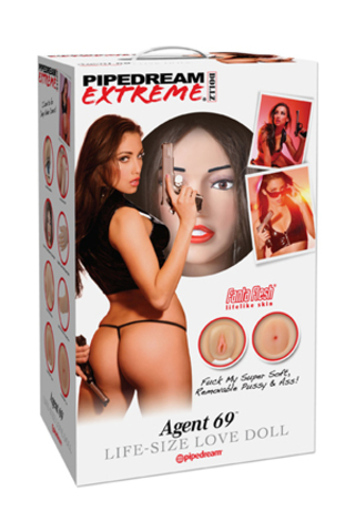 Кукла надувная Pipedream Extreme Dollz  Agent 69 Life-Size Love Doll с вставками брюнетка.