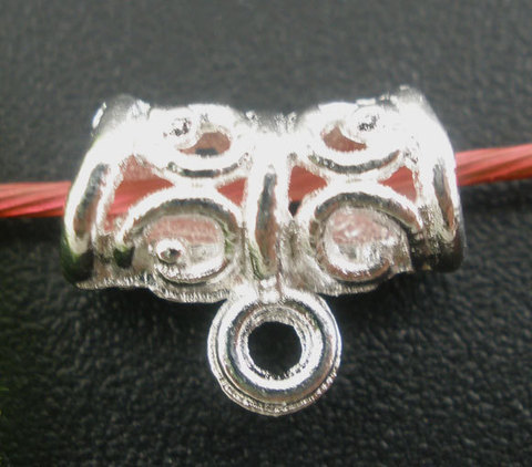 Бейл ажурный 11х5 мм (цвет - серебро) (B03077A)