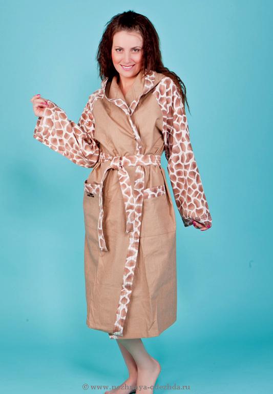 Длинный халат с капюшоном Spaziale Splendy (Женские халаты)