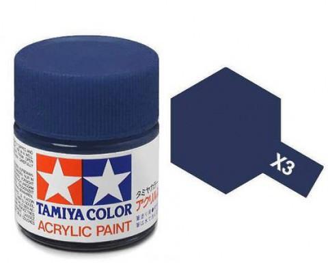 X-3 Краска Tamiya, Королевский синий Глянцевый (Royal Blue), акрил 10мл