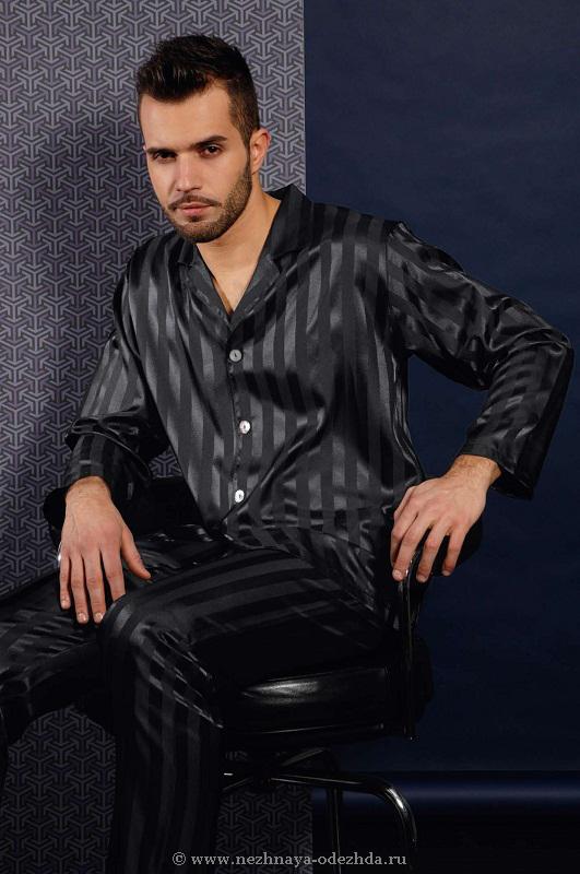 Атласная мужская пижама B&B (Домашние костюмы и пижамы)