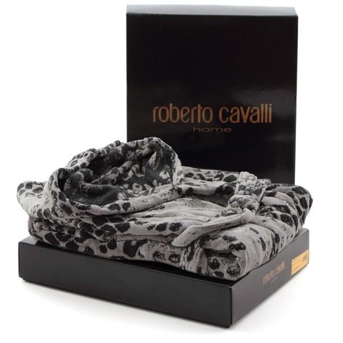 Элитный халат велюровый Giaguaro серый от Roberto Cavalli