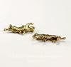 """Подвеска Quest Beads """"Тигр"""" (цвет-античное золото) 23х11 мм"""