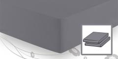 Простыня трикотажная 90-110x200 Elegante 8000 серая
