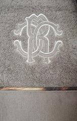 Элитный халат махровый Basic с капюшоном серый от Roberto Cavalli