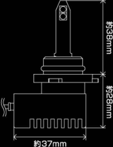 Светодиодные лампы PIAA H8/H11/H16 LEF202 (6000К)