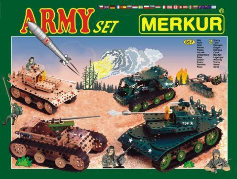 Мет.конструктор Merkur ARMY Set