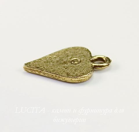 """Подвеска Quest Beads """"Червовая масть"""" (цвет-античное золото) 16х11 мм"""