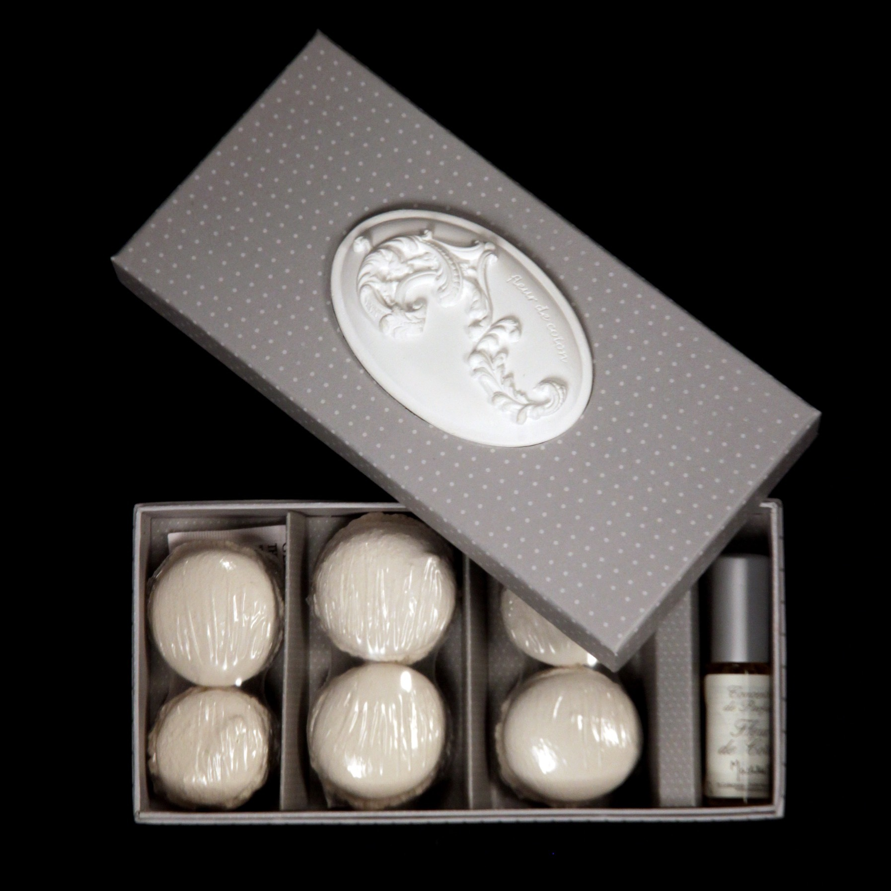 Коробочка макарони+парфюм FLEUR DE COTON MATHILDE M