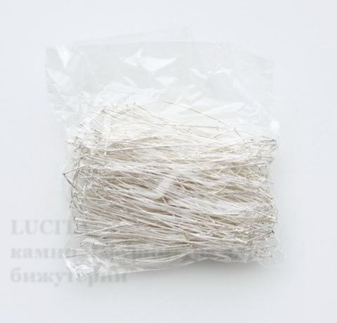 Комплект пинов-гвоздиков (цвет - серебро) 80х0,8 мм, примерно 300 штук ()