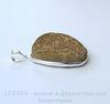 Подвеска Кварц в рамке (цвет - античное серебро) 42х29,5х12,3 мм №12 ()
