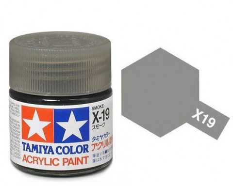 X-19 Краска Tamiya, Дымчатый (Smoke), акрил 10мл